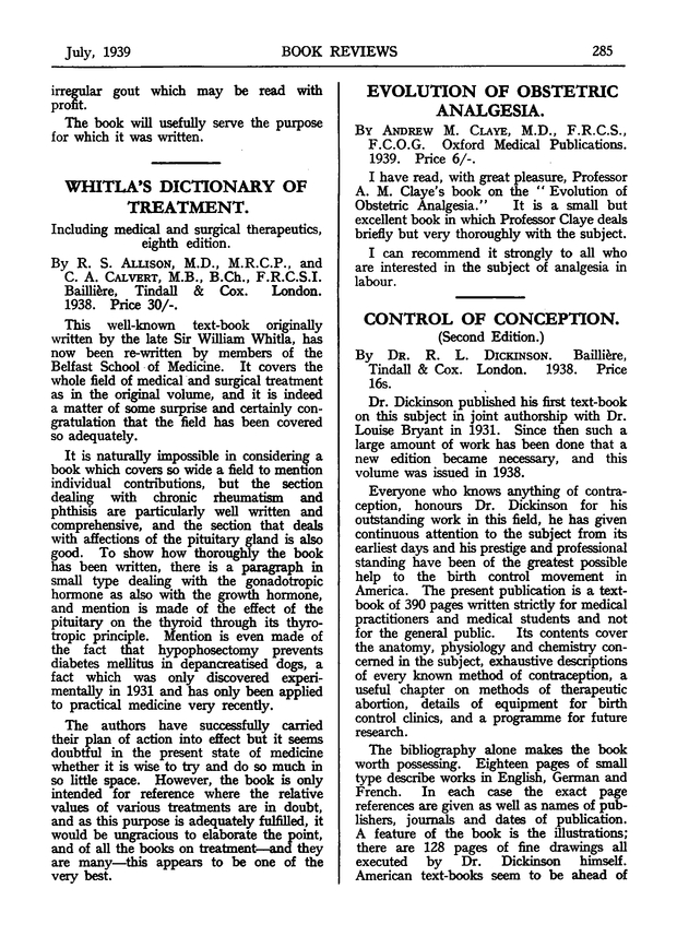 Whitlas Dictionary Of Treatment Including Medical And Surgical