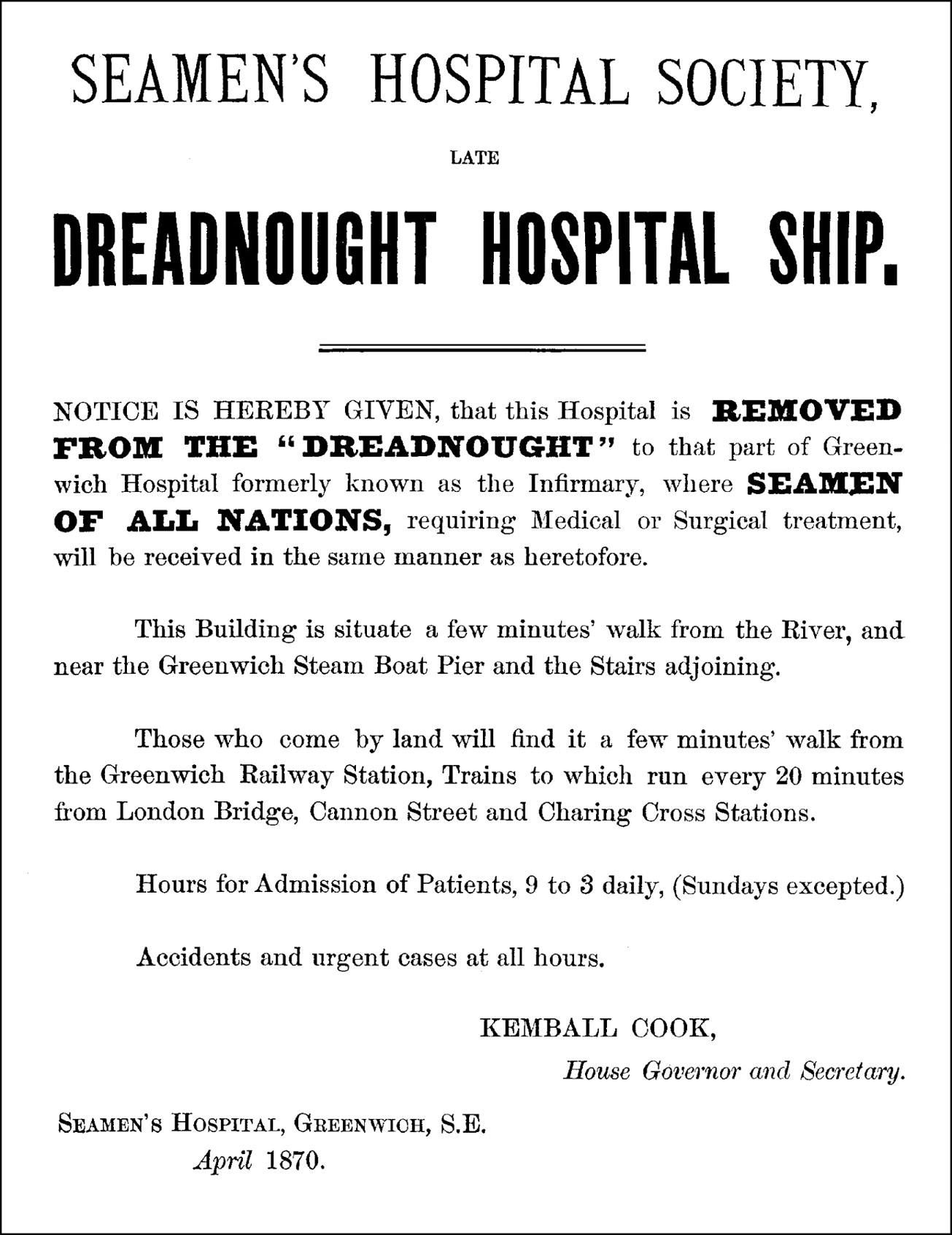 The Seamen's Hospital Society: a progenitor of the tropical