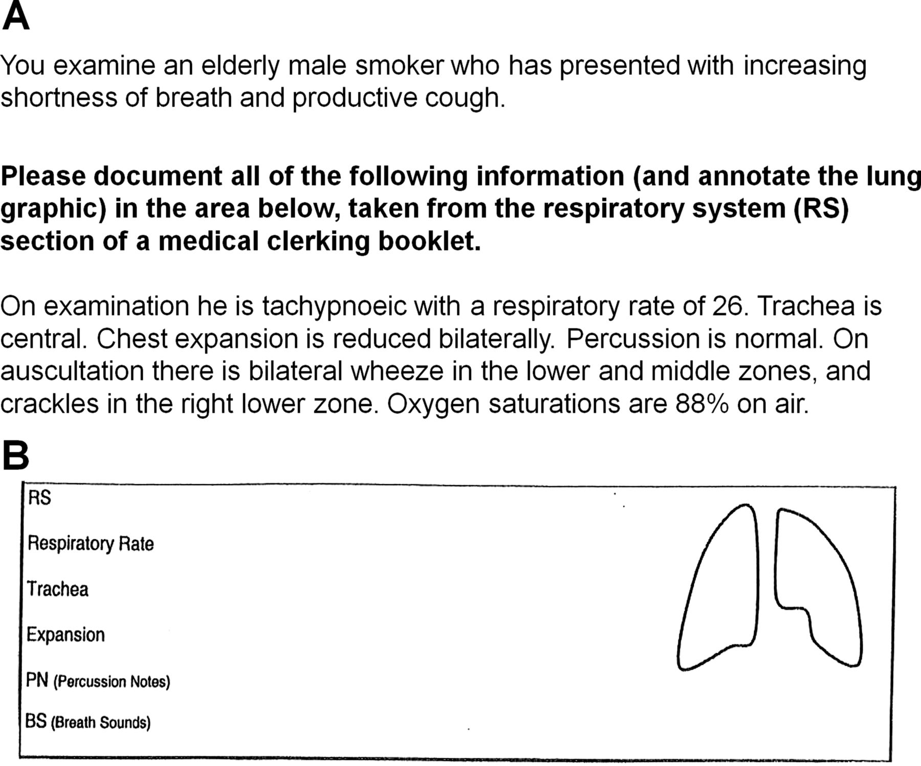 Lung Sounds How Doctors Draw Crackles And Wheeze Postgraduate
