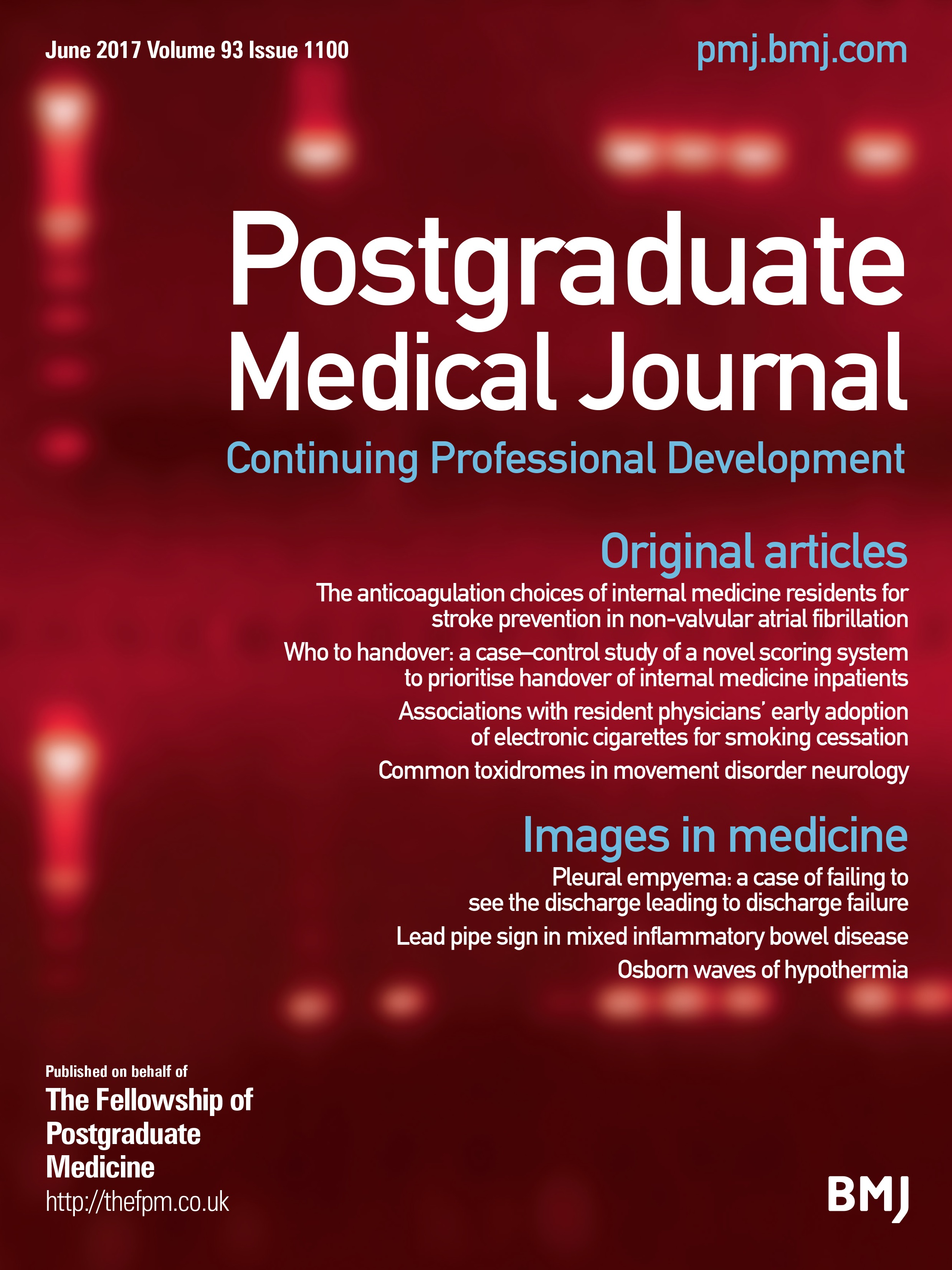 Chapter 61 medical discharge - Associations With Resident Physicians Early Adoption Of Electronic Cigarettes For Smoking Cessation Postgraduate Medical Journal