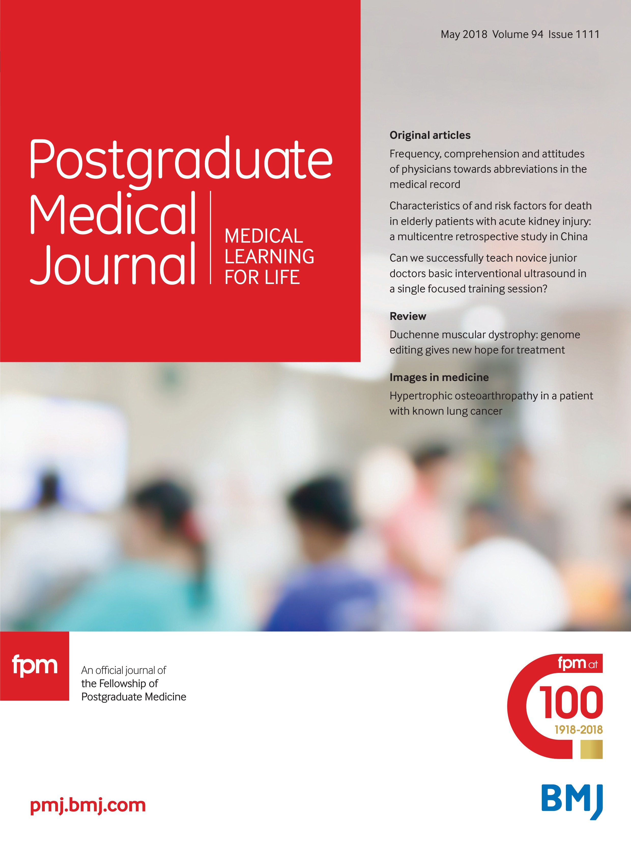 Frequency, comprehension and attitudes of physicians towards
