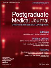 Postgraduate Medical Journal: 89 (1047)