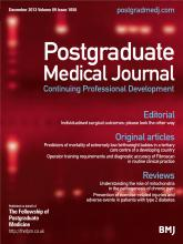 Postgraduate Medical Journal: 89 (1058)