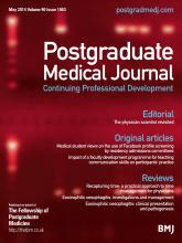 Postgraduate Medical Journal: 90 (1063)
