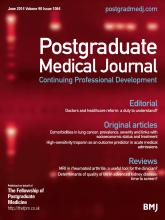Postgraduate Medical Journal: 90 (1064)
