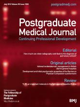 Postgraduate Medical Journal: 90 (1065)