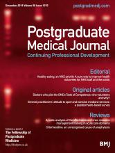 Postgraduate Medical Journal: 90 (1070)