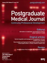 Postgraduate Medical Journal: 91 (1071)